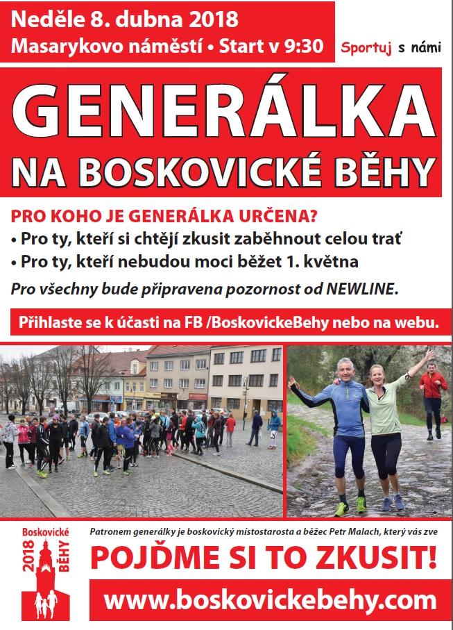 Plakát na generálku na BB