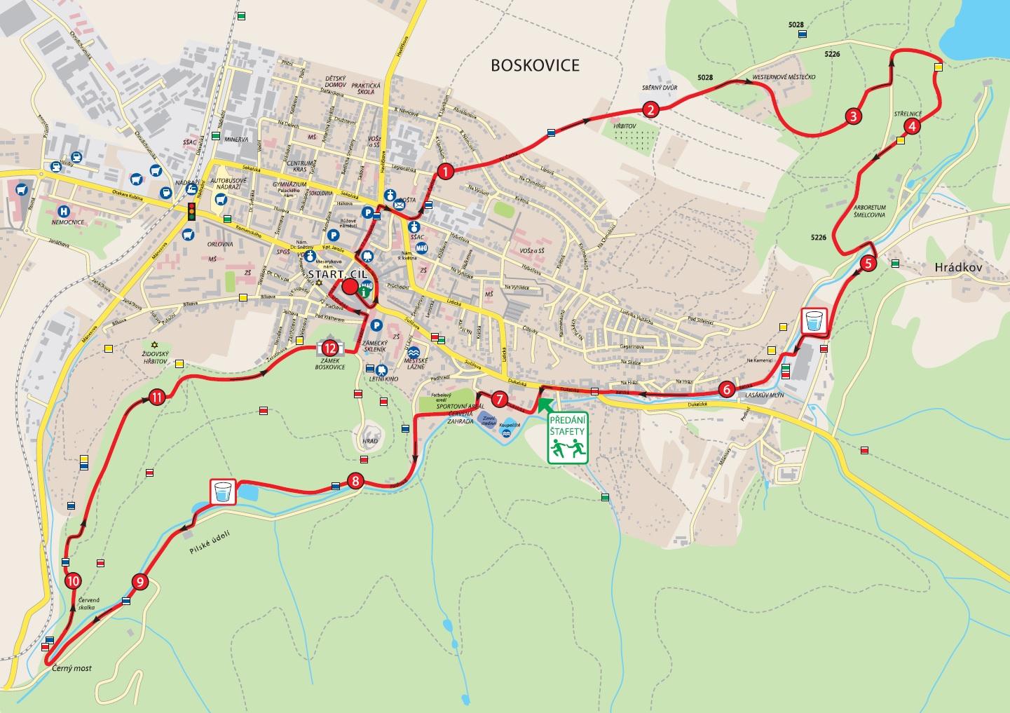 Trasa Běhu za sedmizubým hřebenem 2021