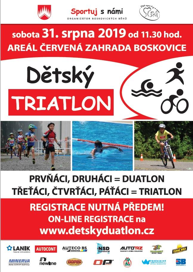 Dětský triatlon 2019 - plakát