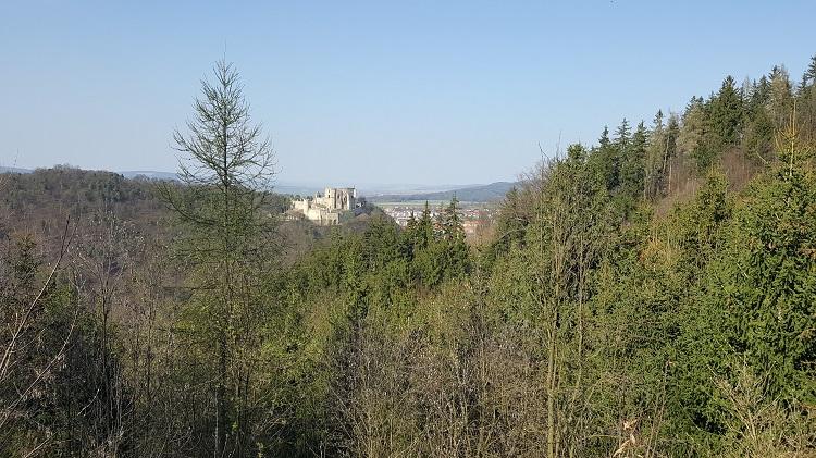 Pohled na hrad z kopce Zlatník