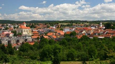 Pohled na centrum Boskovic