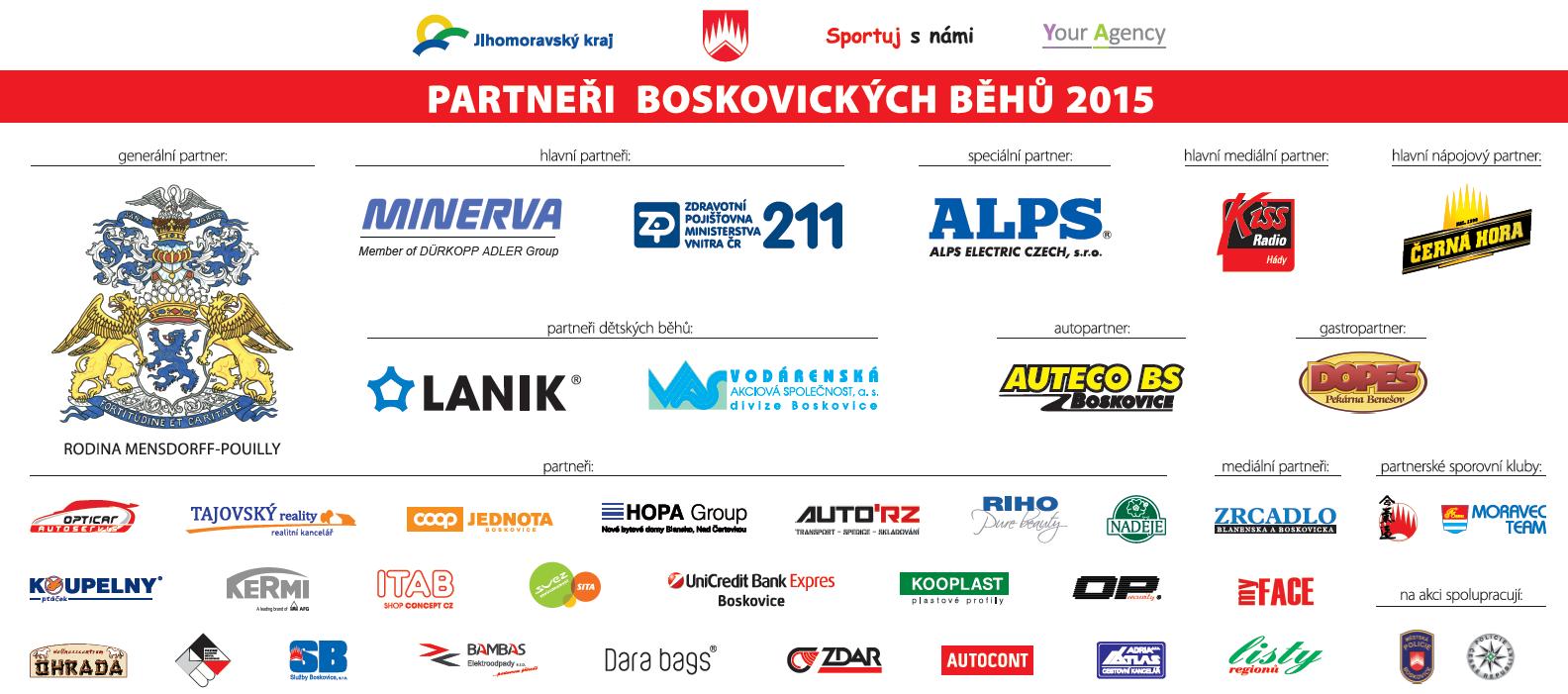 Partneři Boskovických běhů 2015