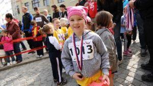 Malá závodnice na Boskovických bězích 2013