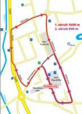 Mapa běhu městem