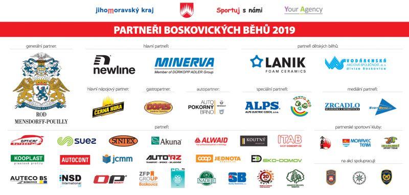 Partneři Boskovických běhů 2019